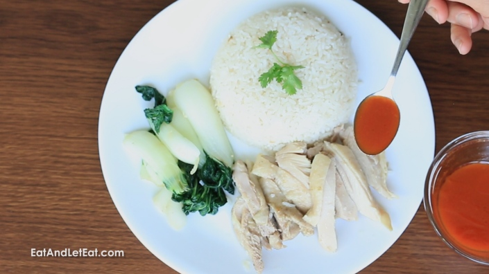 Singaporean Hainan Chicken and Rice